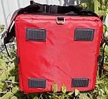 Каркасна термосумка - рюкзак для кур'єрської доставки страв та піци. 40*40, висота 46, фото 4