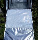 Каркасна термосумка - рюкзак для кур'єрської доставки страв та піци. 40*40, висота 46, фото 5