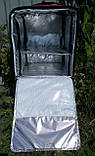 Каркасна термосумка - рюкзак для кур'єрської доставки страв та піци. 40*40, висота 46, фото 6