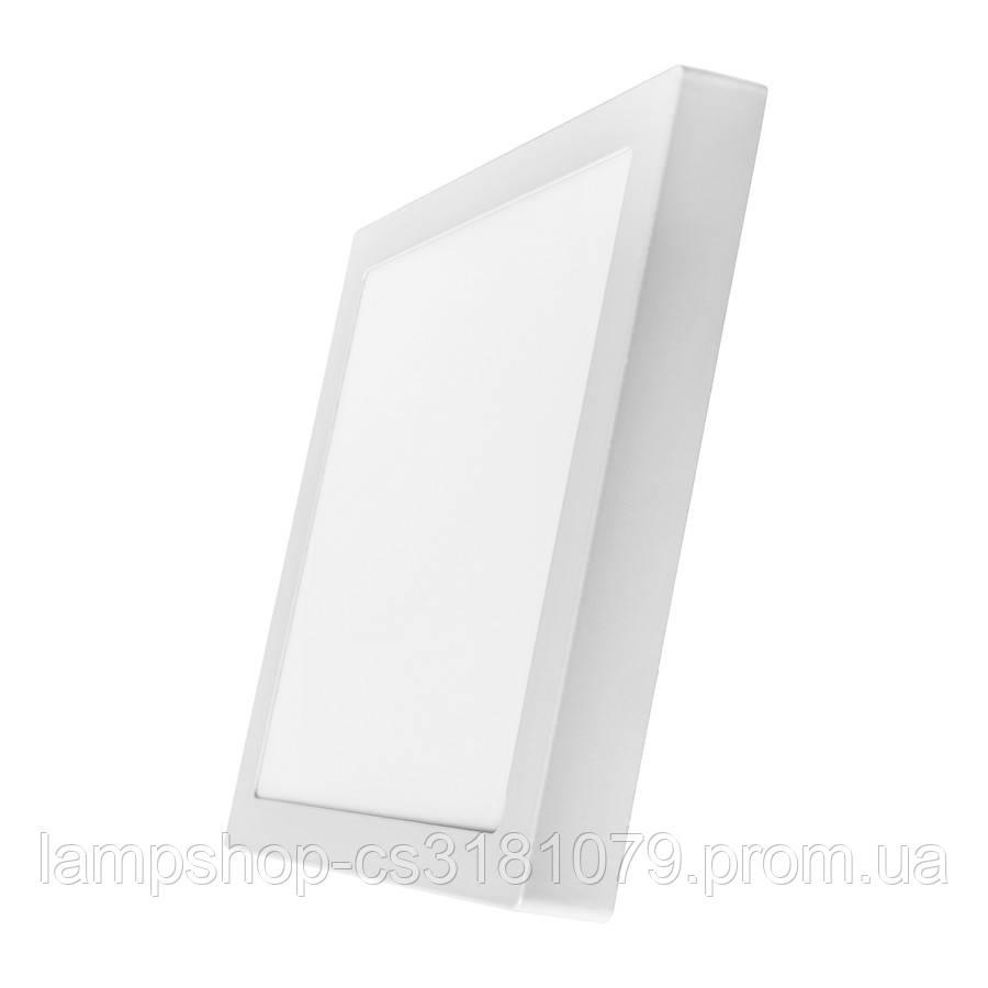 Светильник светодиодный накладной потолочный DELUX CFQ LED 10 4100К 24Вт 220В квадрат