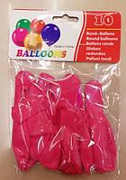"""Воздушные шары набор 8047-31 """"Малиновый"""" 31см 2,5г 10штук уп12"""
