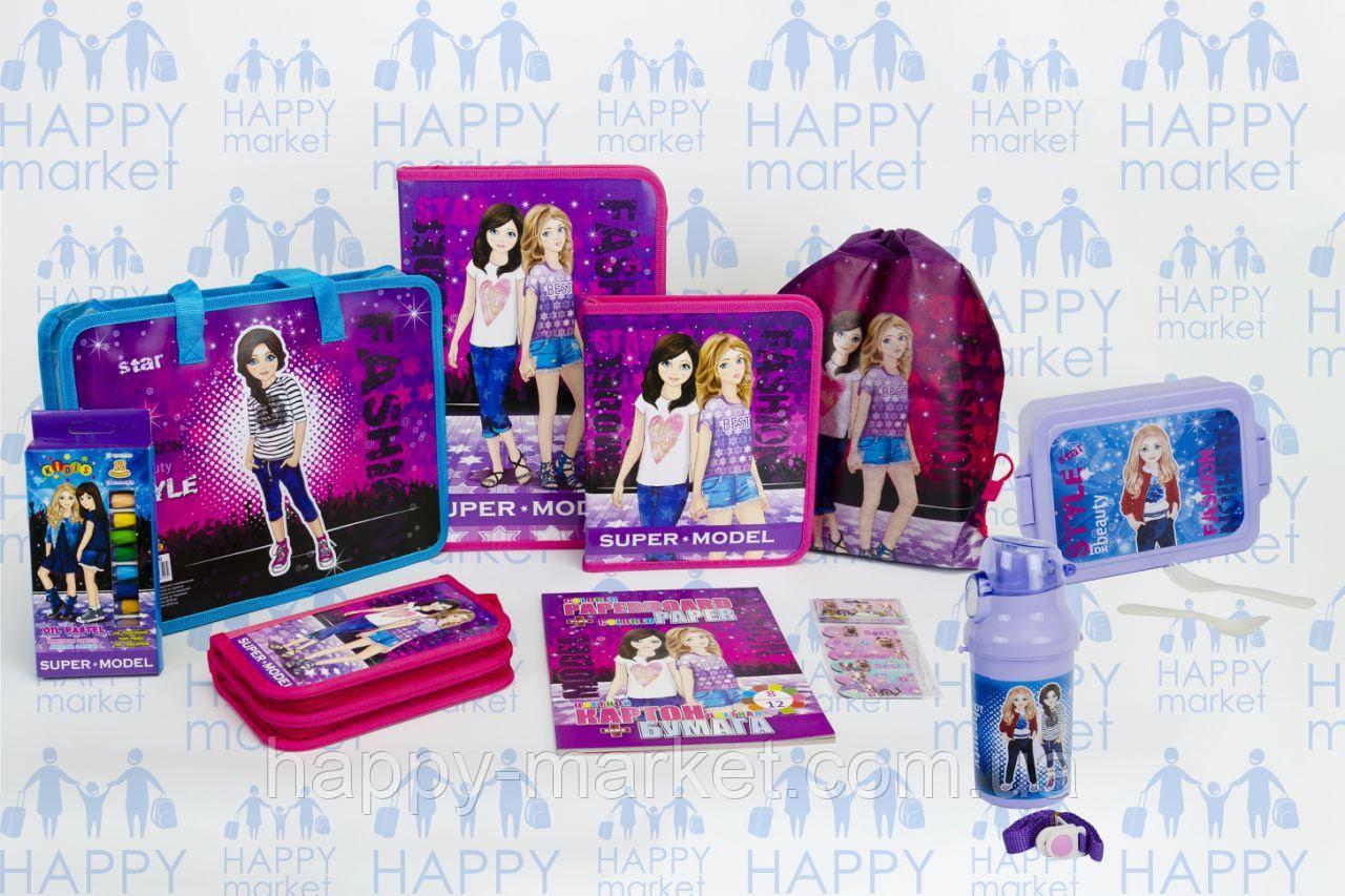 Набор школьный подарок первокласснику Kidis Стильные девочки №5-4