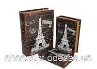 Винтажная книга - шкатулка Париж набор 3в1