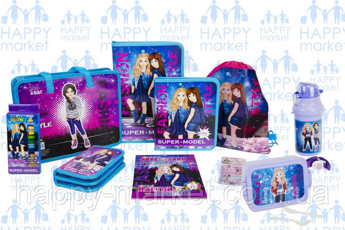 Набір шкільний подарунок першокласнику Kidis Стильні дівчатка №6-4, фото 2