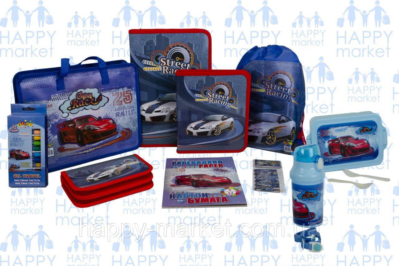 Набір шкільний подарунок першокласнику Kidis Машини №8-4