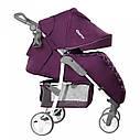 Детская прогулочная коляска с дождевиком фиолетовая, белая рама CARRELLO Quattro CRL-8502/2 Grape Purple , фото 2