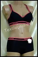 Комплект женского нижнего белья Sport Lu lola черный 6788 B