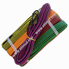 1.5 метра / 10 шт. в упаковке / Резинка багажная плоская с крючками / Ремінь для кріплення вантажу стяжний