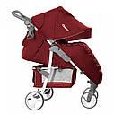 Детская прогулочная коляска с дождевиком красная, белая рама CARRELLO Quattro CRL-8502/2 Cherry Red, фото 2