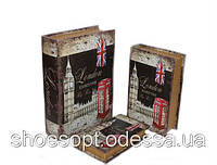 Вінтажна Ретро книга - скринька Лондон набір 3в1, фото 1