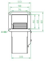 Вентилятор улитка малый (центробежный) Турбовент ВРМ 120, фото 3