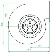 Вентилятор улитка малый (центробежный) Турбовент ВРМ 130, фото 3