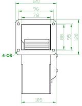 Вентилятор центробежный (радиальный) малый ВРМ 140, фото 2