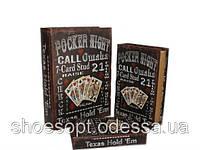 Винтажная книга - шкатулка Покер набор 3в1