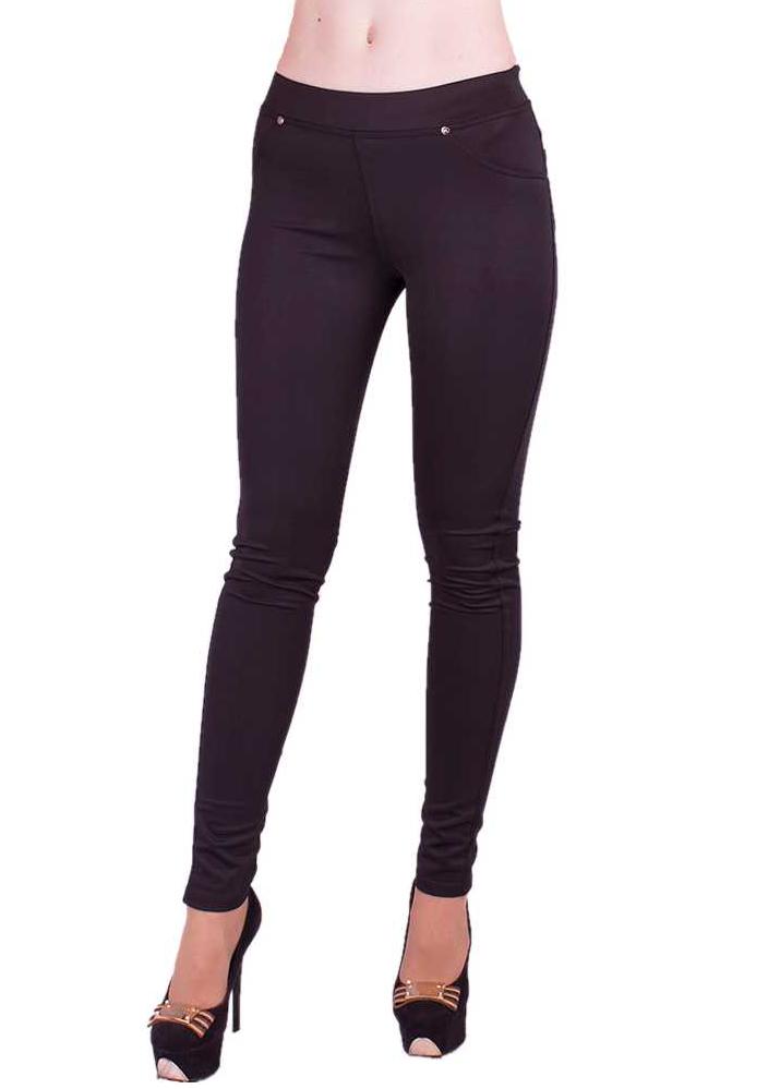 Теплі лосіни на флісі утеплені жіночі штани, чорні