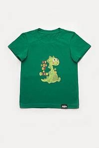 Футболка для мальчика 'My Dad is a Hero' зеленая 128 р