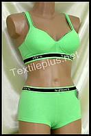 Комплект женского нижнего белья Sport Lu lola зеленый 6788 B