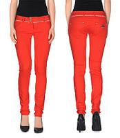 Красные джинсы MET со стразами