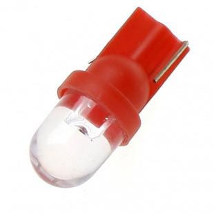 Светодиодная автолампа T10 W5W 0.1W 12V 5lm красная