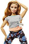 Барби йога безграничные движения шарнирная кукла пышка Barbie Made To Move Doll Бабрі йога пишка, фото 4
