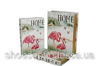 Стильная книга шкатулка Фламинго набор 3шт , фото 1