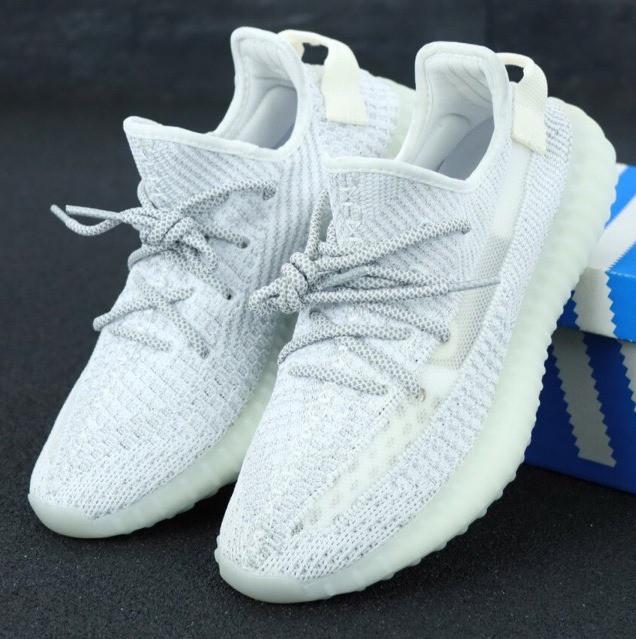 Мужские кроссовки Adidas Yeezy Boost 350 V2 Static Reflective Grey Рефлективные
