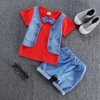 Нарядный костюм на мальчика с бабочкой  футболка +шорты  4 года