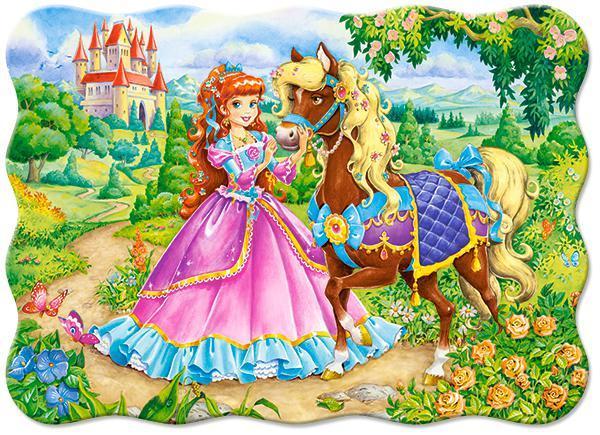 Пазлы Принцесса и её лошадь, 30 эл.