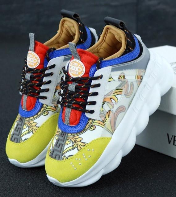 Кроссовки Женские Versace Chain Reaction Sneakers, Версаче