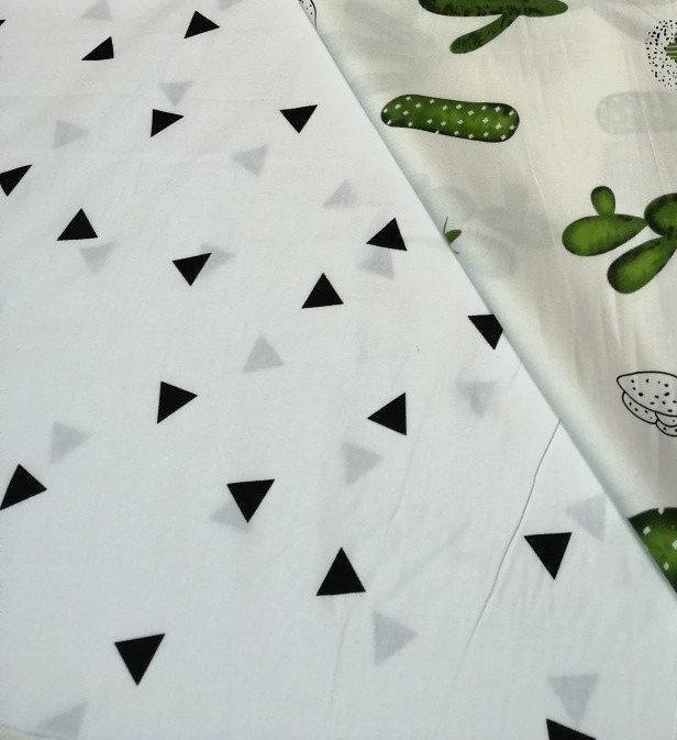 ткань сатин треугольники китай 220