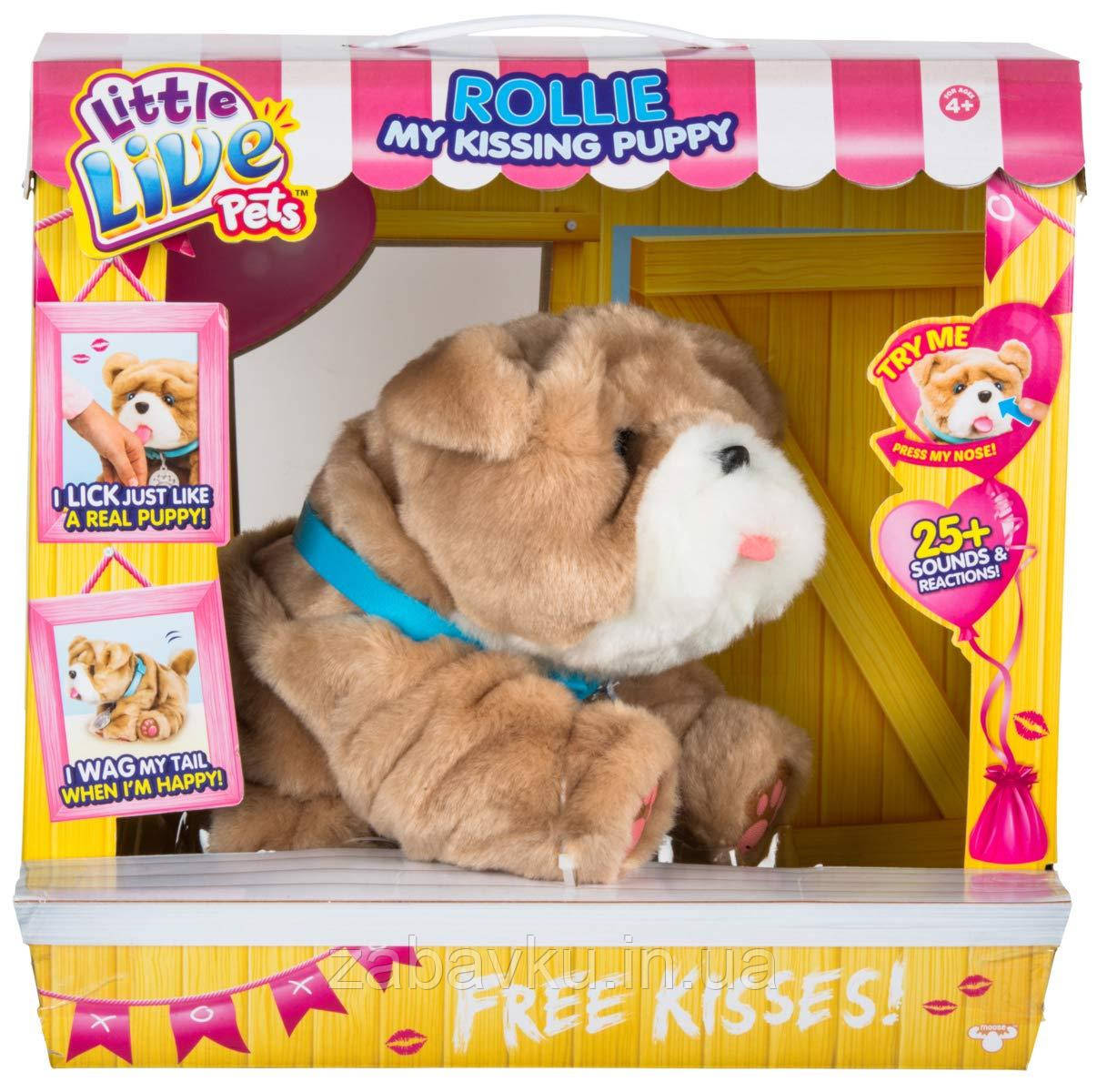 Цуценя Роллі Little Live Pets - My Kissing Puppy - Rollie