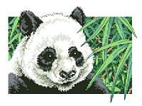 """Набор для вышивки на канве с нитками крестиком """"Панда"""". Размер 22х17 см."""