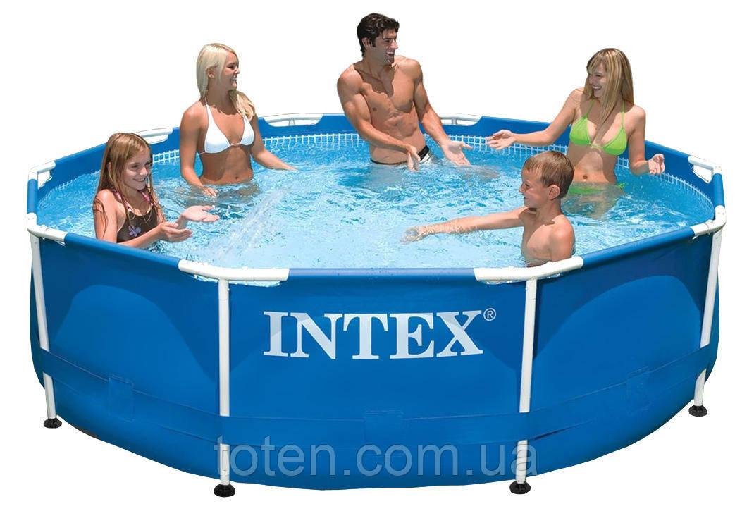 Каркасный бассейн  305 x 76 см Intex 28200 (аналог 28700) Intex компактный с металлическим каркасом