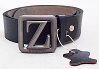Кожаный черный ремень Emenegildo Zegna