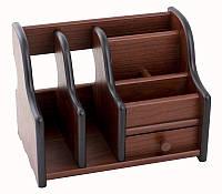 Подставка для ручек JS8035 деревянная 20.5х13х15 см., фото 1