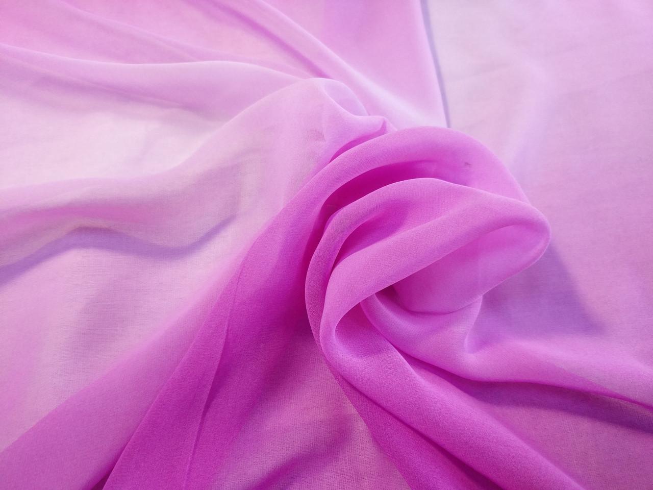 Шифон растяжка цвета, розово-сиреневый