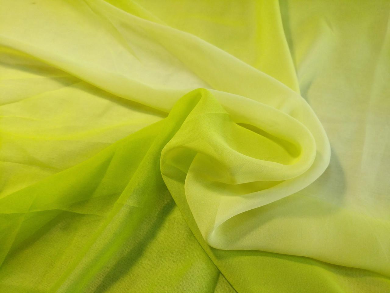 Шифон растяжка цвета, лимонно-желтый