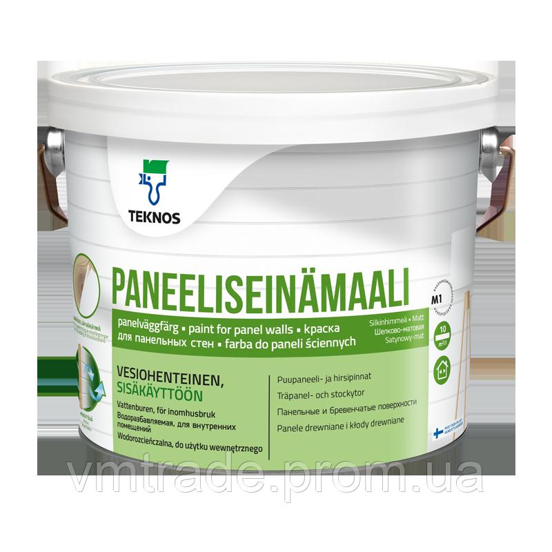 Краска акрилатная для деревянных стеновых поверхностей, Текнос Панелисейнамаали (Teknos) 9 л, Б3
