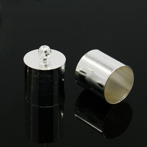 Концевик для шнура металлический 10х5мм серебро для рукоделия