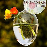 Подвесная стеклянная ваза - Овал 11 см