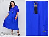 Літнє плаття великого розміру з 58 по 72, фото 2