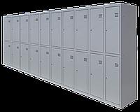 Шкаф для одежды на двадцать человек ШОМ (1800х4000х500)  разборной (толщина 0,5 мм)