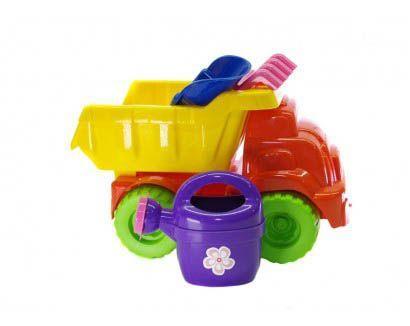 Машинка с песочным набором (оранжево-желтая) 013565/3