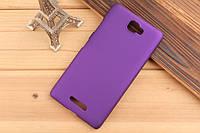 Чехол накладка бампер для Lenovo S856 фиолетовый