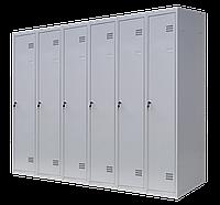 Шкаф для одежды разборной на шесть человек 6/180(1800х1800х500) толщина металла 0,5 мм