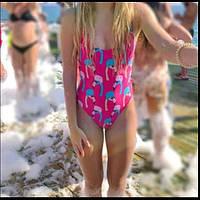Яркий модный купальник Фламинго!!