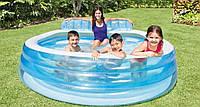 Бассейн надувной Intex для всей семьи с сиденьем и спинкой (224*216*76  см)