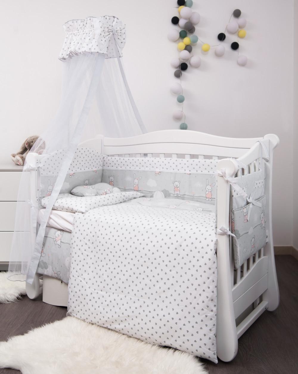 Детская постель Twins Premium Modern Зайчата 9 предметов (P-103 Зайчики pink)