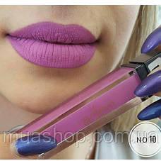 Aden Жидкая устойчивая помада Liquid Lipstick (10/Cerise) 7 ml, фото 3