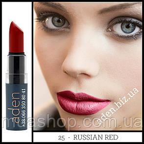 Aden Помада увлажняющая 325 Hydrating Lipstick (25/Russian Red) 3,5 gr, фото 2